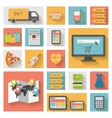 Internet shopping e-commerce concept Icons set vector image