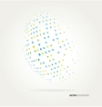 World halftone on white background vector image vector image