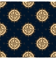 Seamless golden stylized compass rose pattern vector image vector image