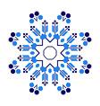 Ethnic ornament mandala geometric patterns in blue vector image
