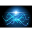 glowing stars and wave vector image vector image