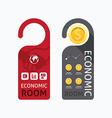 aper door handle lock hangers concept economic vector image