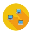 Computer network single icon vector image
