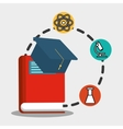 school red book graduation physical chemistry vector image