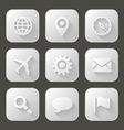Set of icons with long shadow vector image