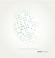 World halftone on white background vector image