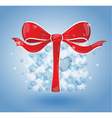 Gift with bubbles hearts and stars vector image