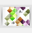 square template background vector image