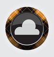 button with orange black tartan - cloud cloudy vector image