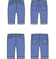 jean breeches front and back vector image