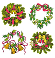 Set of Christmas Wreath vector image