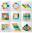 Infographic Templates Icons Set vector image
