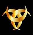 Horned Triskele- The horn of Odin vector image