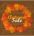 autumn sale text banner with colorful seasonal vector image
