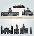 havana v2 landmarks vector image