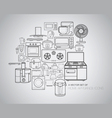 home appliance icons vector image