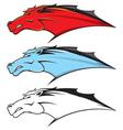 Horse head mascot vector image