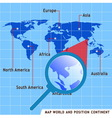 map world and position continent vector image