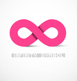 Pink Infinity Symbol vector image
