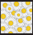Daisy flower pattern vector image