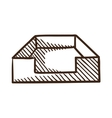 File box or case symbol vector image