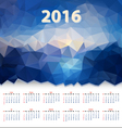 year calendar triangular design vector image vector image