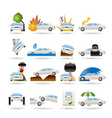 car and transportation insurance and risk icons vector image