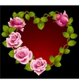 Framework from pink roses vector image vector image