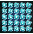 Comic cartoon buttons set vector image