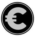 euro black coin vector image