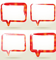 Set Blank empty white speech bubbles watercolor vector image