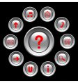 glossy buttons with red symbols vector image vector image