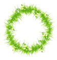 Isolated Grass Frame vector image vector image