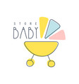 baby store logo colorful hand drawn vector image