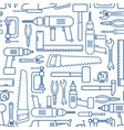 hardware tool set linear seamless pattern vector image