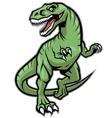 Raptor dinosaur mascot vector image
