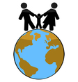 Family earth vector image vector image