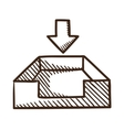 Incoming files symbol vector image vector image