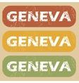 Vintage Geneva stamp set vector image