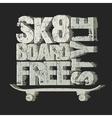 Skateboarding t-shirt emblem vector image