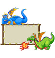 Dragons and sign vector image