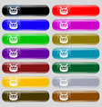 drum icon sign Big set of 16 colorful modern vector image