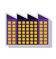 plant factory building isolated icon vector image