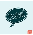 Sale speech bubble vector image