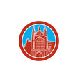 Winchester Cathedral Woodcut Retro vector image
