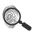 lupe scene finger icon vector image