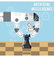 Artificial intelligence technology Robot hand vector image
