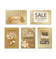 sale banner with golden background vector image