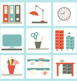 Office Supply Flat Design vector image