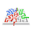 passage of the maze vector image